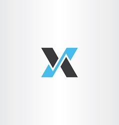 logo logotype black blue letter x icon vector image vector image