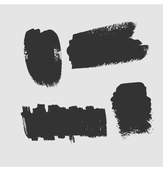 Set of grunge textured brush strokes on a white vector image