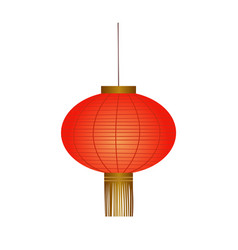 traditional red chinese lantern vector image vector image