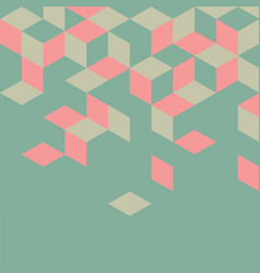 abstract colorful retro geometric modern template vector image