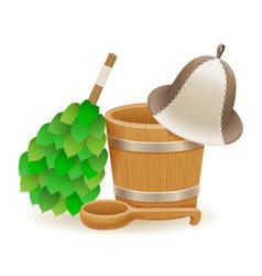 Accessories for steam bath or sauna vector