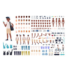 african american boy constructor or diy kit vector image