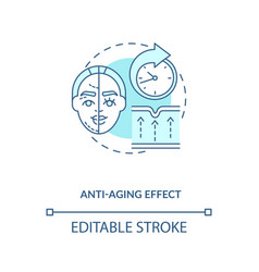 Anti aging effect blue concept icon vector