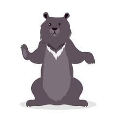 Asian black bear cartoon icon in flat design vector