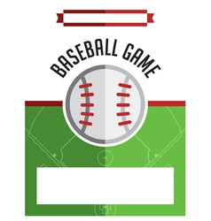 Baseball Game Flyer vector image
