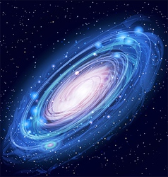 Beautiful Glowing Andromeda Galaxy vector image
