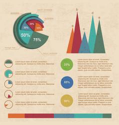 Beige infographic set vector