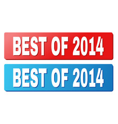 Best of 2014 caption on blue and red rectangle vector