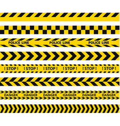 Black and yellow police stripe border vector