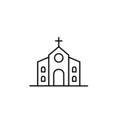 building church outline icon element of vector image
