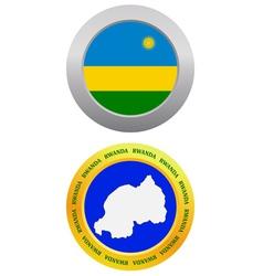 button as a symbol RWANDA vector image