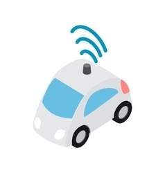 Car wi fi icon isometric 3d style vector