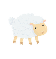 cartoon character of cute domestic sheep with vector image
