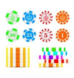 Casino chips illustration vector