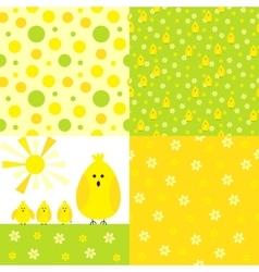 Chicken background set vector image