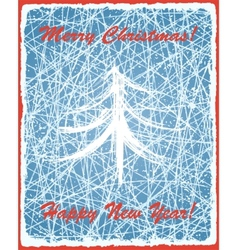Christmas background with ice texture vector image