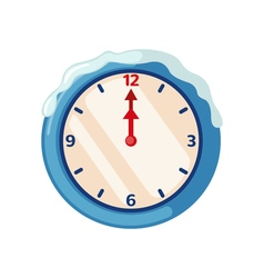 Christmas clock icon in flat style vector