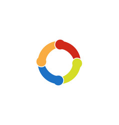 Circle line logo template icon vector