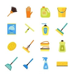 Cleaning Kit Colorful Icon Set vector image
