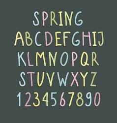color alphabet vector image