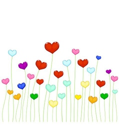 Colored hearts vector image