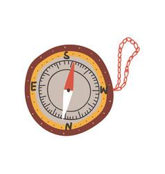 compass summer travel equipment tool vector image