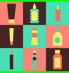 cream packaging bottles vector image
