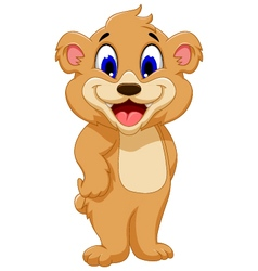 cute bear cartoon for you design vector image