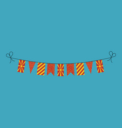 decorations bunting flags for macedonia national vector image