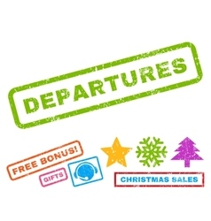 Departures Rubber Stamp vector