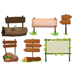 Different design of wooden signs vector image