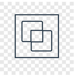 Divide concept linear icon isolated on vector