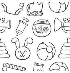 doodle baobject collection stock vector image