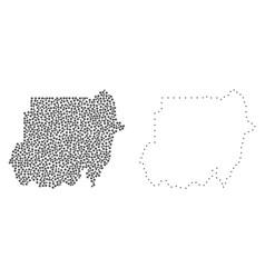 Dot contour map of sudan vector