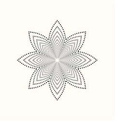 Dotted geometric shape vector