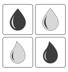 drop water gray vector image