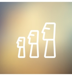 Easter Island Statues statue thin line icon vector