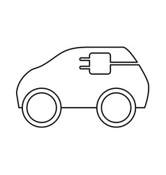 Electric car vehicle vector
