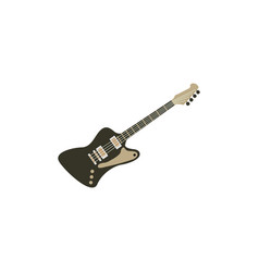 electric guitar graphic design template isolated vector image