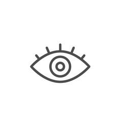 Eye line icon vector