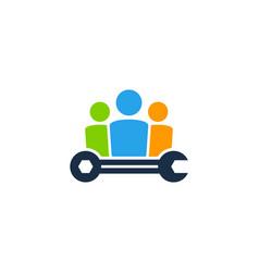 Fix job logo icon design vector