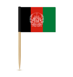 Flag of afghanistan flag toothpick 10eps vector