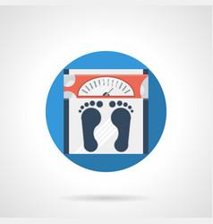 floor scales blue round icon vector image