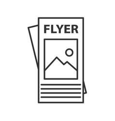 Flyer mockup linear icon vector