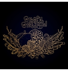 Graphic Christmas card vector image