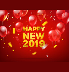 Happy new 2019 greeting card vector
