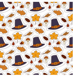 Happy thanksgiving day hats design holiday vector
