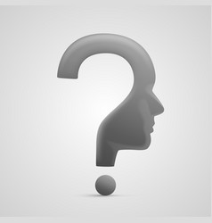 head question sign vector image