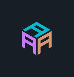 Hexagon logo with letters aaa design vector