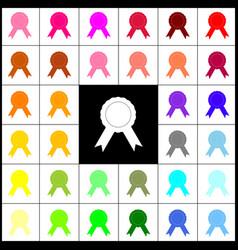 label sign ribbons felt-pen 33 colorful vector image
